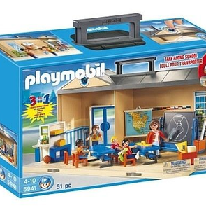 Playmobil Ecole transportable 3 en 1