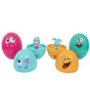 « La Chasse aux Œufs Jojo et Mimi » Barquette de 4 œufs