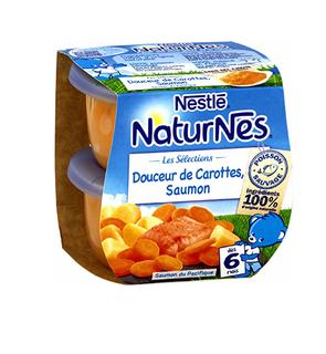 NATURNES Les Sélections - Douceur de carottes - saumon