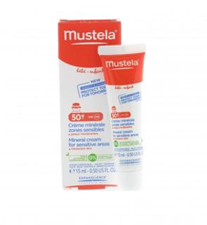 Crème écran minérale zones sensibles Mustela