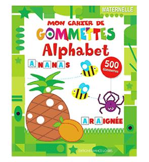 """Mon cahier de gommettes """"Alphabet"""" Piccolia"""