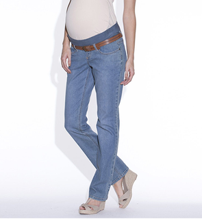 Jean de grossesse droit denim stretch