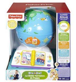 Le Globe terrestre de Puppy Fisher Price