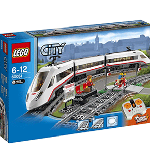 Le train de passagers à grande vitesse Lego City