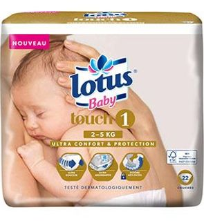 Couches Lotus Baby Touch T1 (2-5 KG)