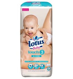 Couches Lotus Baby Touch T3 (4-9 KG) x44