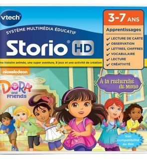 Vtech Jeu pour console de jeux Storio HD : Dora et ses amis