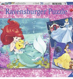 3 Puzzles 49 pièces - Aventure des Princesses - Ravensburger