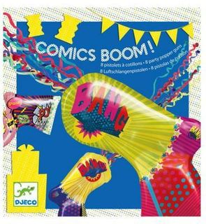 Djeco Pistolets à cotillons : Comics boom