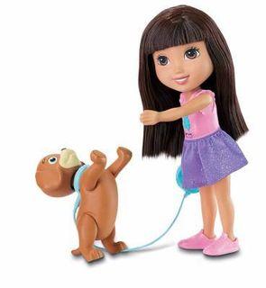 Fisher-Price Poupée Dora and Friends : Dora et son chien savant