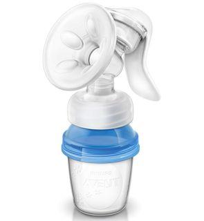 Natural tire lait manuel + 3 pots de conservation