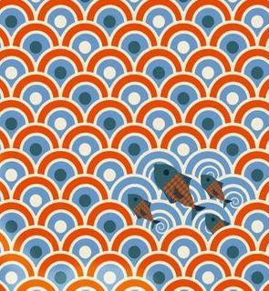 Djeco Lé de papier peint Sardines pour chambre Marin