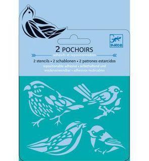 Mini pochoirs Oiseaux (2 pochoirs)