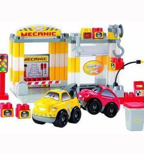 Ecoiffier Briques de construction Abrick : Garage Mécanique
