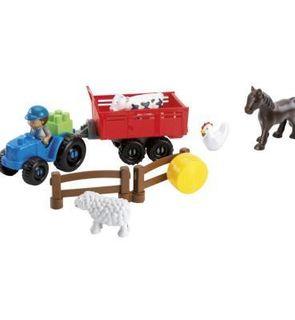 Ecoiffier Briques de construction Abrick : Animaux de la ferme et tracteur