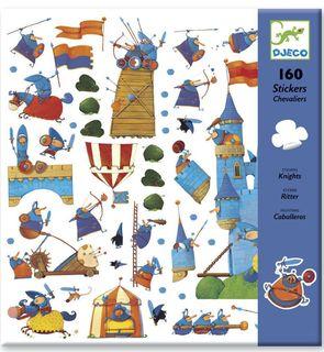 160 stickers chevaliers Djeco