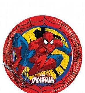 8 Assiettes en carton Ultimate Spiderman?
