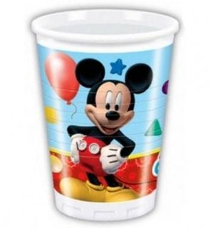 8 gobelets plastique Mickey Mouse ?