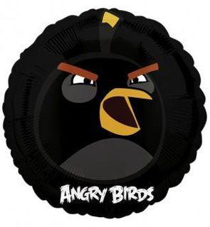 Ballon aluminum Angry Birds? noir 45 cm
