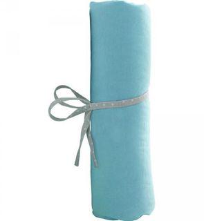 Draps housse bébé 60x120cm turquoise