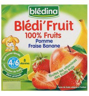 Blédit'Fruit 100% Fruit - Pomme Fraise Banane