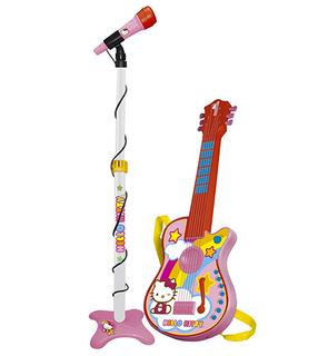 Ensemble Guitare Electronique Avec Micro Hello Kitty