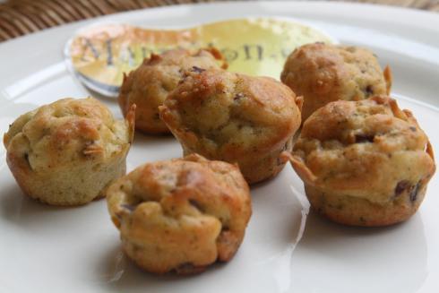 Muffin boursin lardons