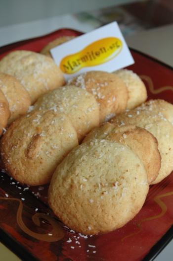 Cookies chocolat blanc noix de coco