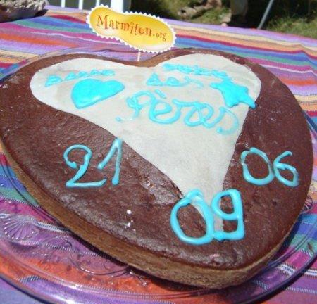 Rencontre Marmiton : gâteau coeur au chocolat