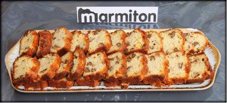 Rencontre chez Jacotte à Besançon - Cake poire roquefort noix