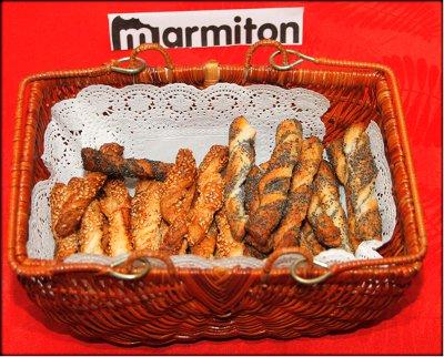 Rencontre Marmiton chez Jacotte à Besançon - feuilletés aux graines