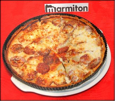 Rencontre Marmiton chez Jacotte à Besançon - galette à la fondue et saucisse de Morteau