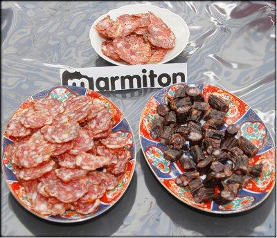 Rencontre Marmiton chez Jacotte à Besançon - saucisses sèches