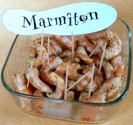 Rencontre Marmiton : crevettes marinées ail et 5 baies