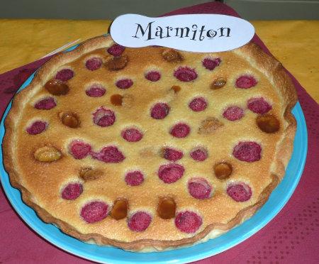Rencontre Marmiton : tarte framboise, amande et caramel