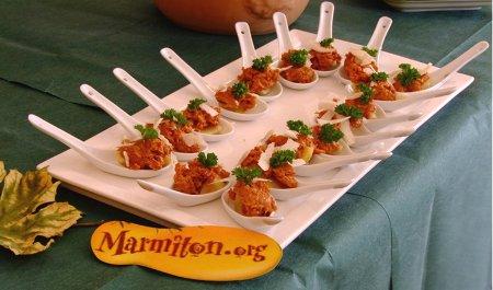 Rencontre Marmiton : cuillères artichaut/tomates séchées/parmesan
