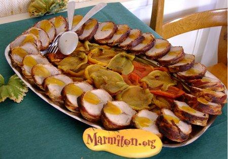 Rencontre Marmiton : filet mignon de porc aux abricots et ses poivrons grillés