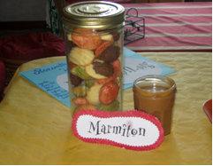 Rencontre Marmiton : madeleines tricolores et crème de caramel au beurre salé