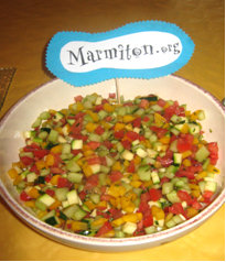 Rencontre Marmiton : salade aux légumes croquants