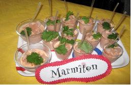 Rencontre Marmiton : verrines de mousse de crevettes