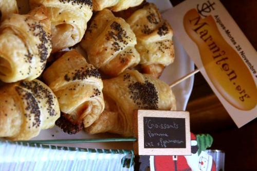 Mini Croissants Pomme Parmesan (Claire42 et Françoise de Voreppe)