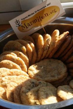 Cookies Chocolat Pistache de Christophe