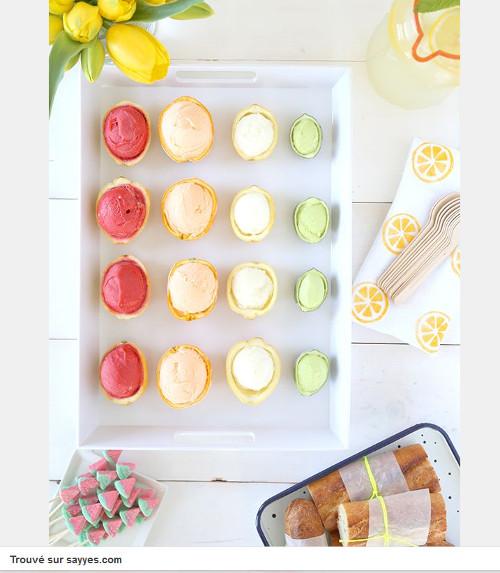 Pinterest cuisine : glaces servies dans des coques de citron