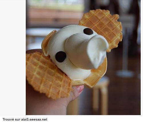 Pinterest cuisine : glace en forme d'éléphant