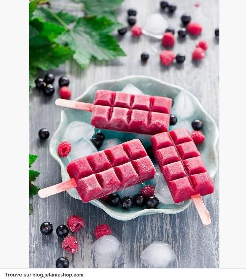 Pinterest cuisine : glace en forme de tablette de chocolat