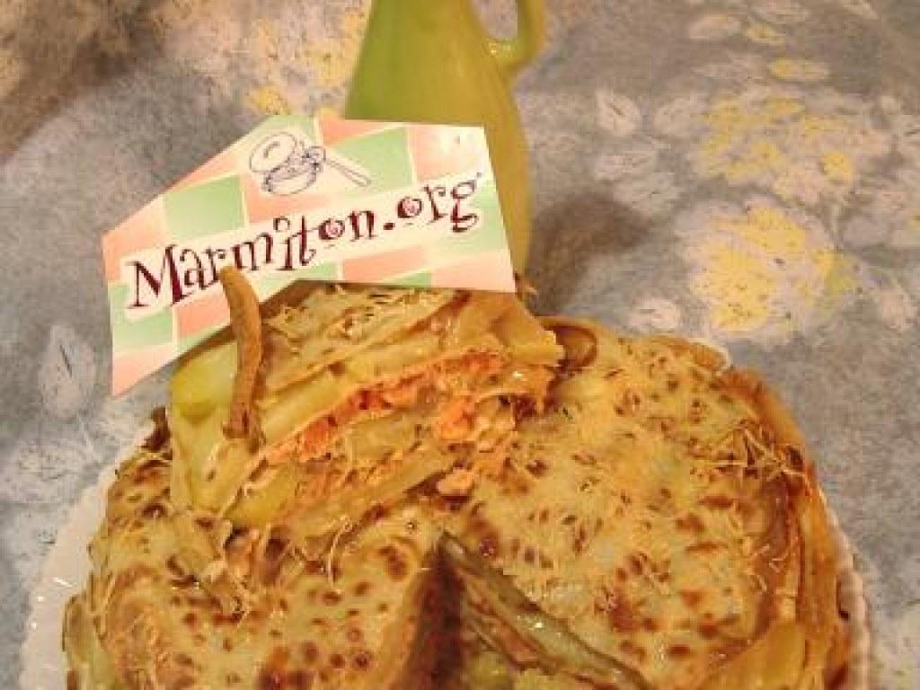Gâteau De Crêpes Garni Façon Montagne Recette De Gâteau De Crêpes