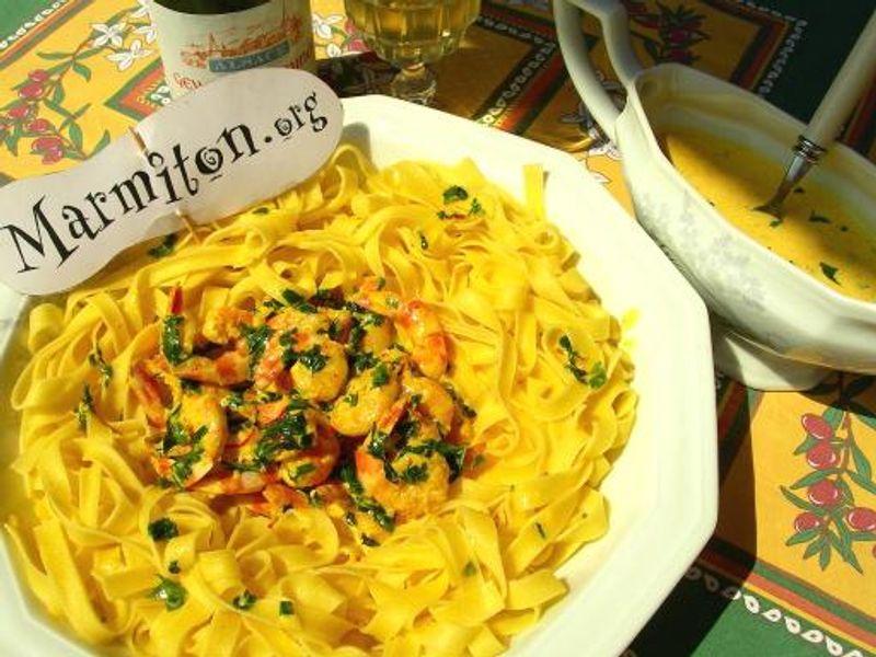 Crevettes Persillées Au Safran Recette De Crevettes Persillées Au