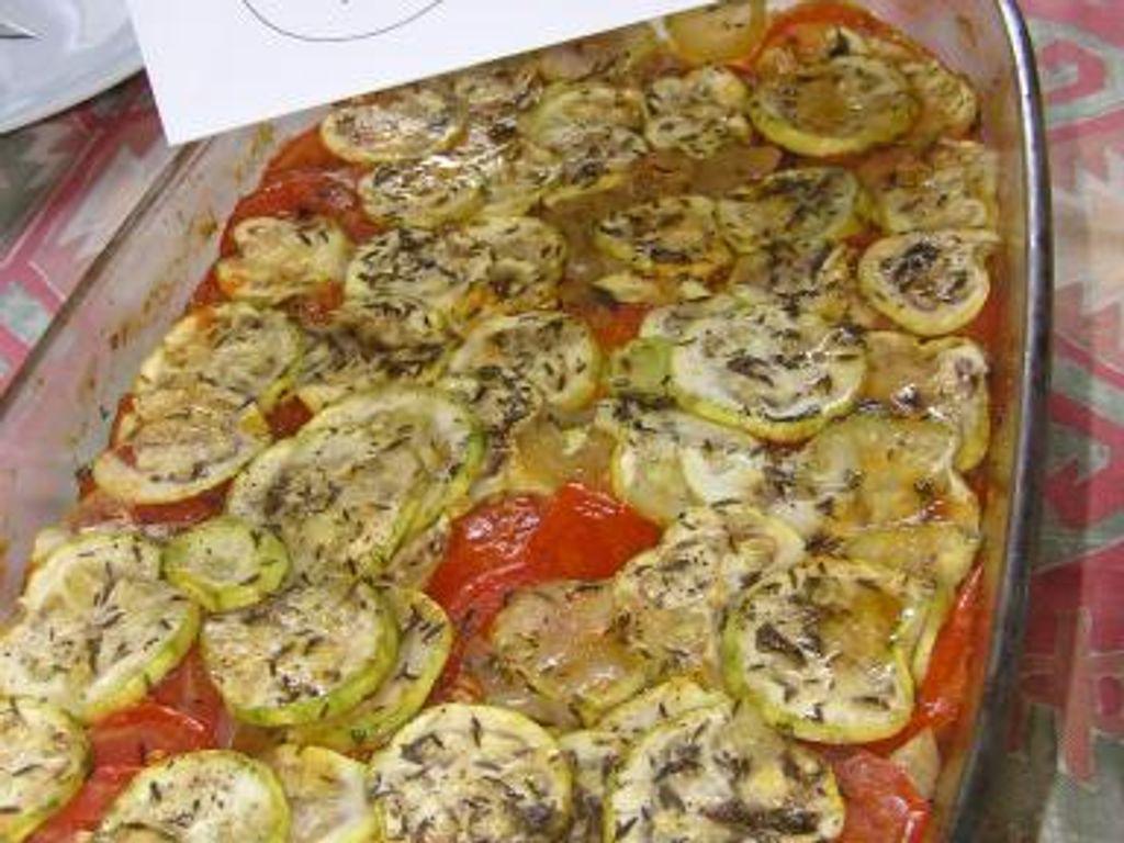 Recette Facile Du Tian Provencal tian de courgettes et de tomates