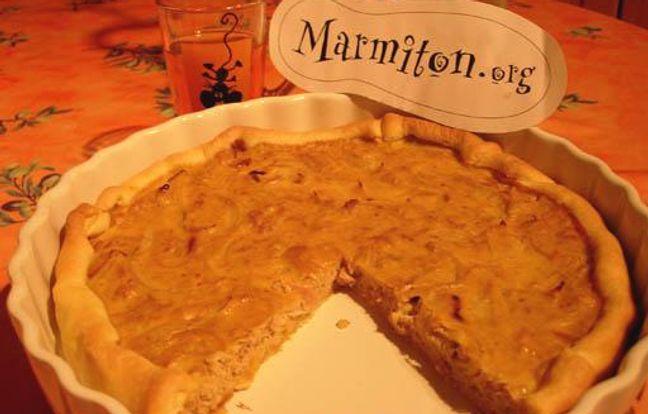 Tarte au thon au poivron rouge : Recette de Tarte au thon ...