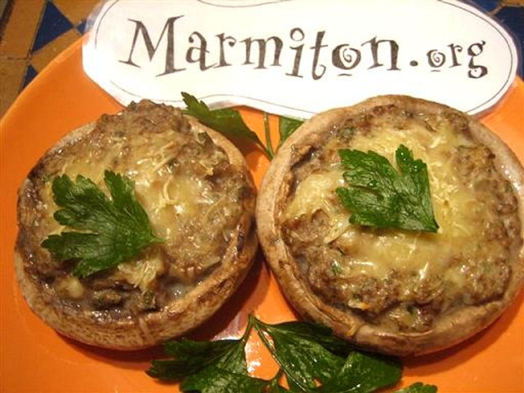Champignons farcis : Recette de Champignons farcis - Marmiton
